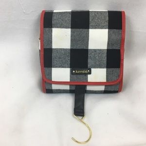 Kensie Hanging Travel Folding Pouch Plaid Bag